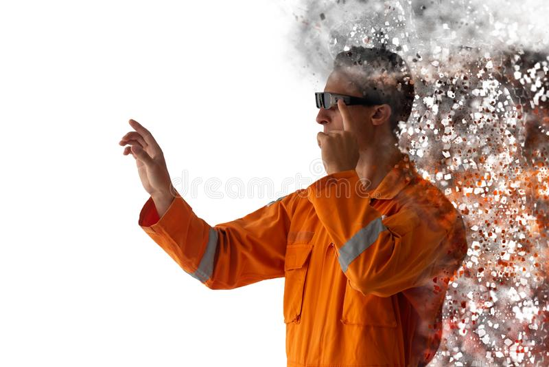 Smart augmented mixed virtual reality disruption technology royalty free stock photography