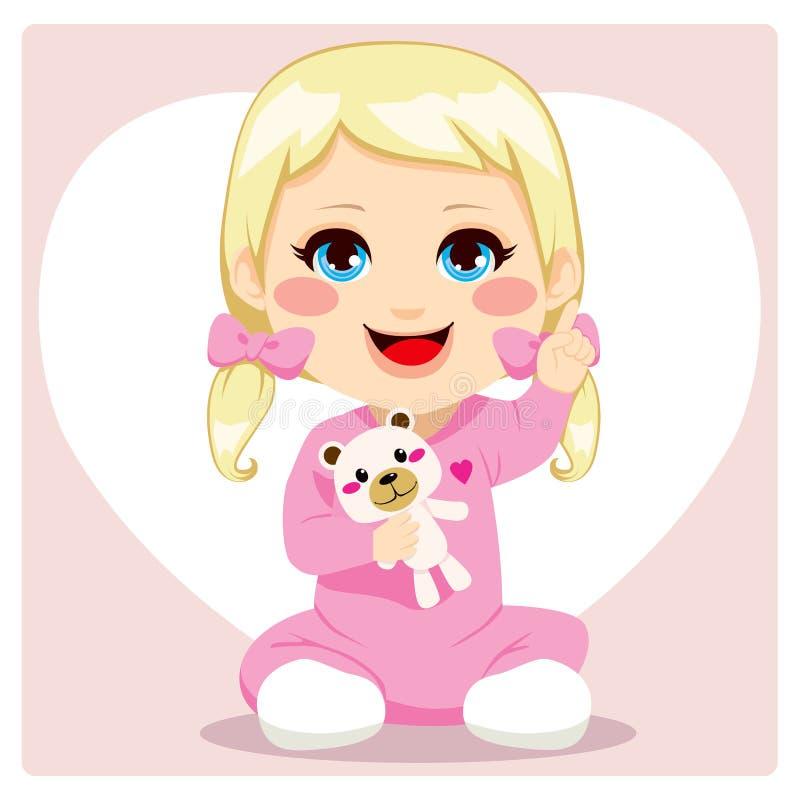 Smart Baby Girl royalty free illustration