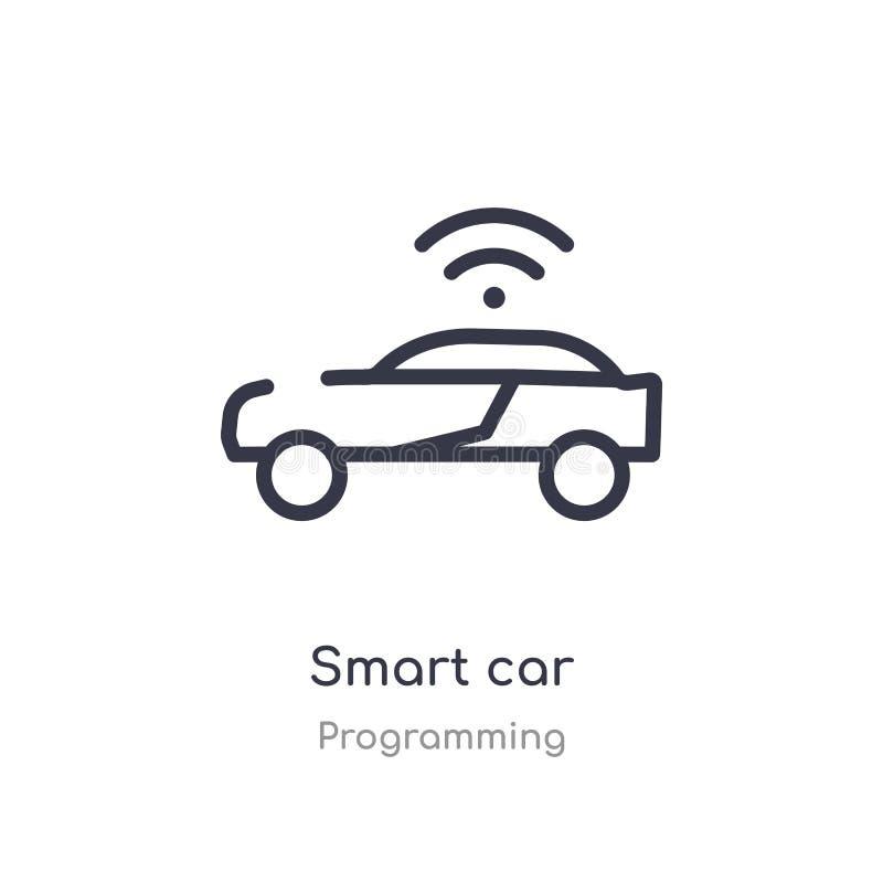 smart bilöversiktssymbol isolerad linje vektorillustration fr?n att programmera samlingen smart bilsymbol för redigerbar tunn sla vektor illustrationer
