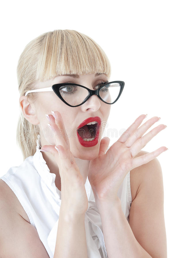 Download Smart Blonde Business Woman Shouting. Royalty Free Stock Photo - Image: 31425275