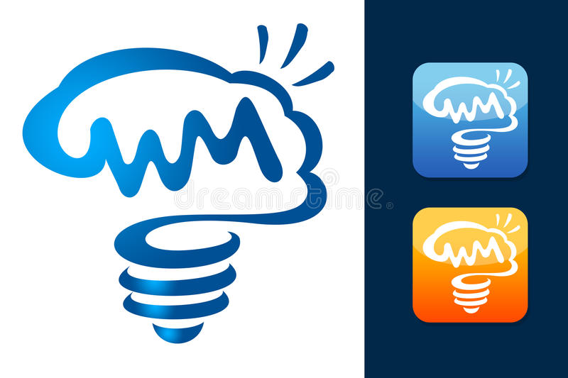 Smart Brain Logo stock illustration