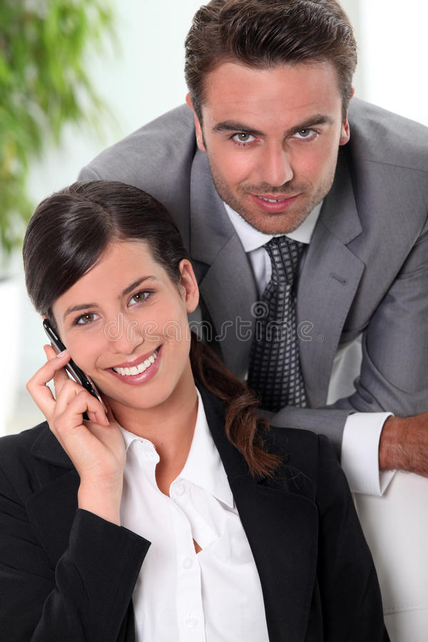 Download Smart business couple stock photo. Image of caucasian - 23350932