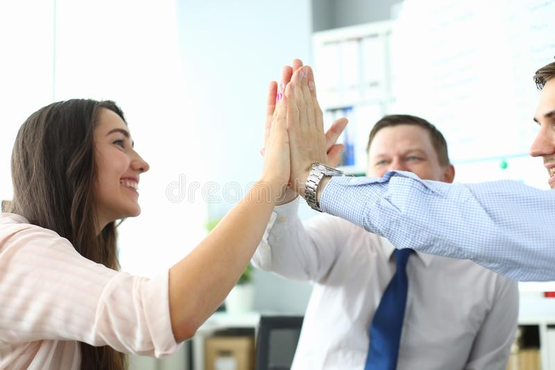 Smart business team in office royalty free stock images