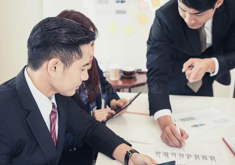 Smart Business team working hard in meeting royalty free stock photos
