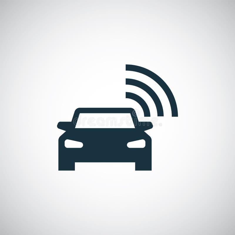 Smart car icon simple flat element vector illustration