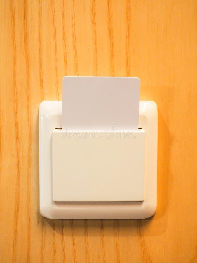 Smart card do controle de Enery fotografia de stock