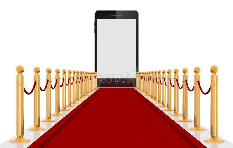 smart cartpettelefonred royaltyfria foton