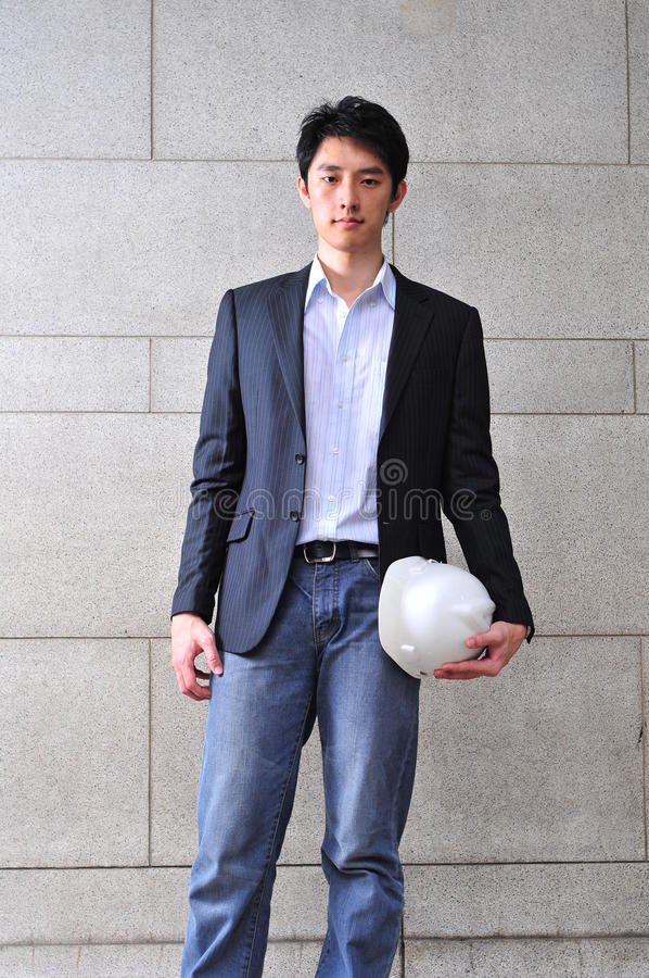 Smart Casual Looking Asian Man stock photos