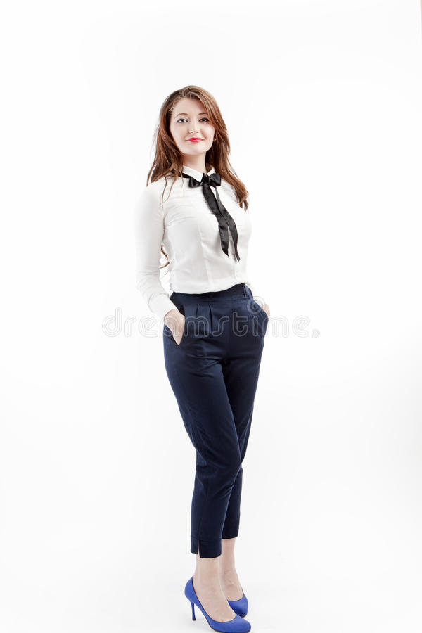 Download Smart casual woman stock image. Image of girl, person - 24613645