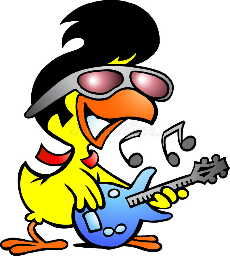 Download Smart Chicken Playing On Guitar Stock Vector - Illustration: 26808889