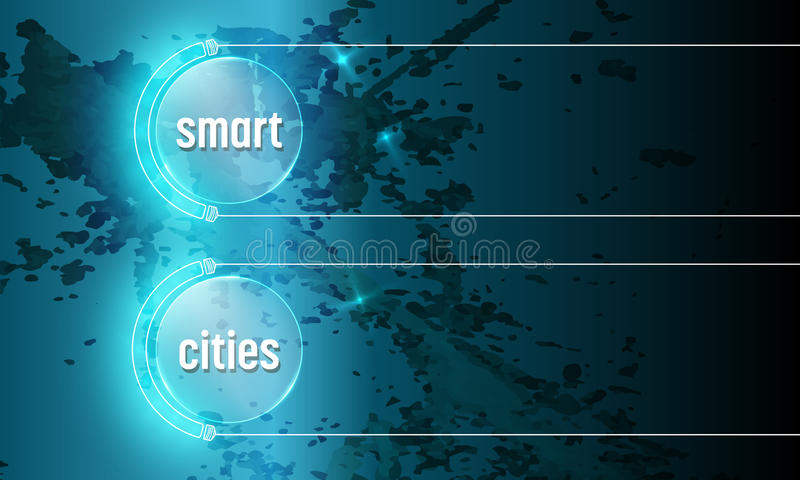 Smart cities. Abstract background with the words smart cities royalty free illustration