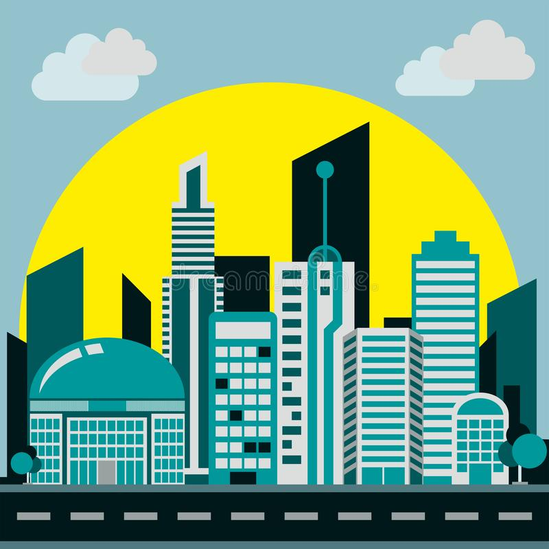 Smart city background smooth color stock illustration