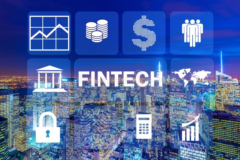 The smart city concept with fintech financial technology concept. Smart city concept with fintech financial technology concept stock photos
