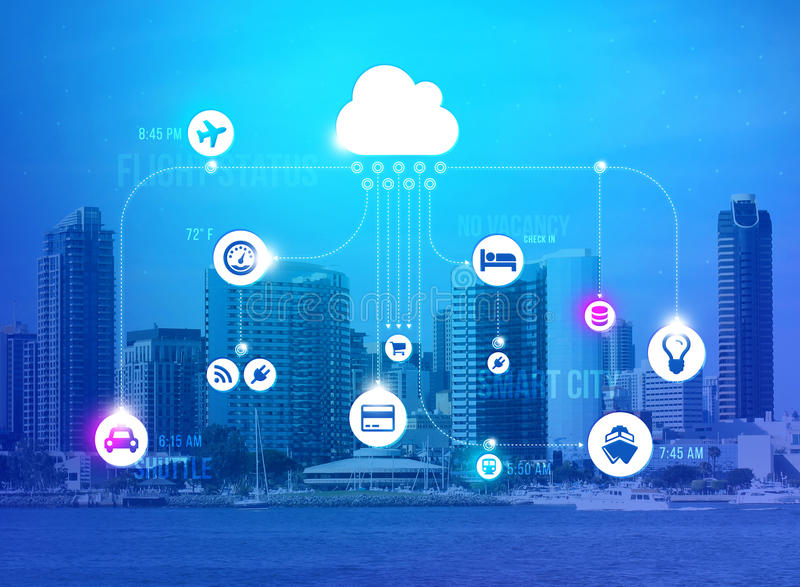Smart city concept stock image