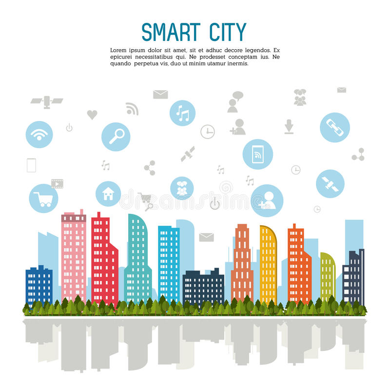 Smart city design. Smart city concept with building icon design, vector illustration 10 eps graphic royalty free illustration