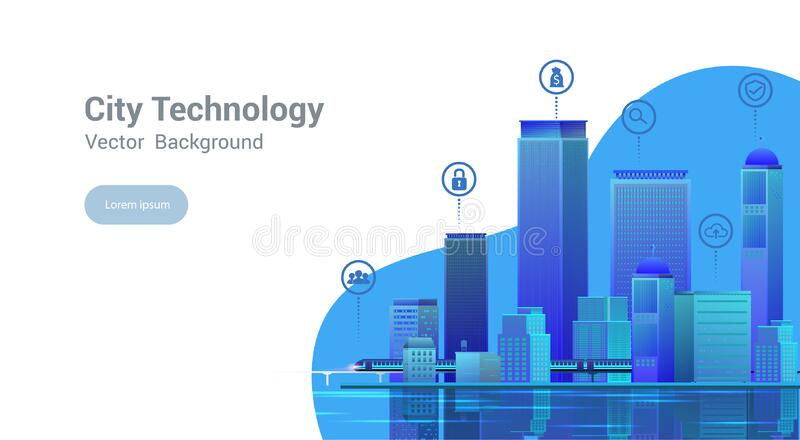 Smart city.Vector illustration royalty free stock images