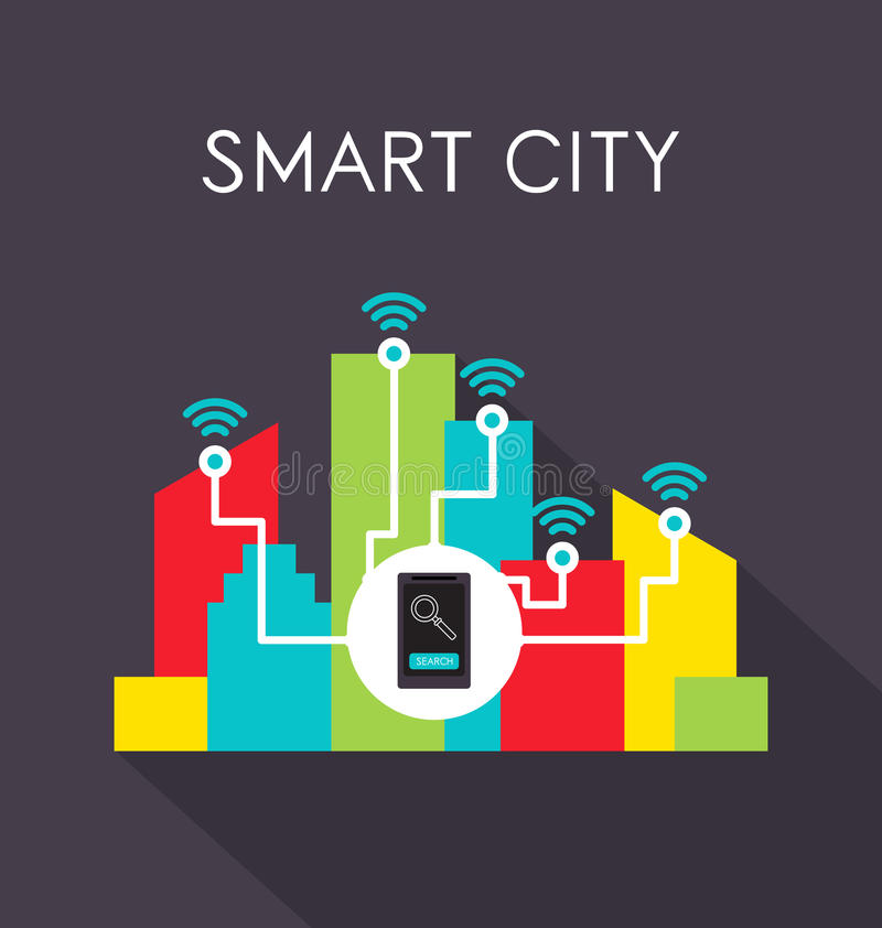 Smart city royalty free illustration