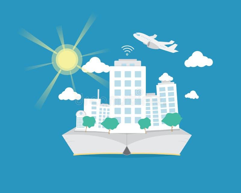 Smart City Na mieszkanie książce ilustracji