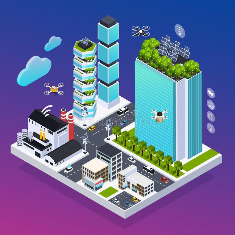 Smart City-Samenstelling vector illustratie