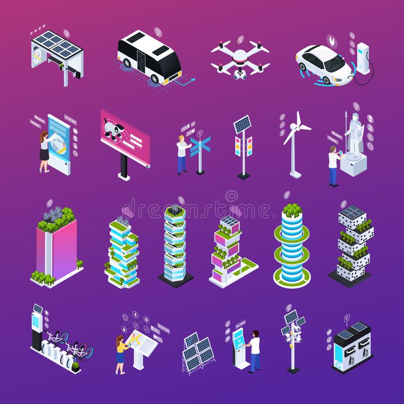 Smart City Set royalty free illustration