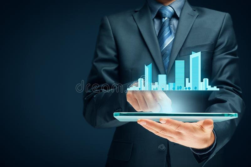 Smart city stock images