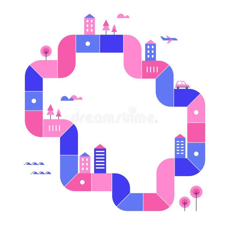 Smart City utvecklingsInfographics översikt också vektor för coreldrawillustration royaltyfri illustrationer