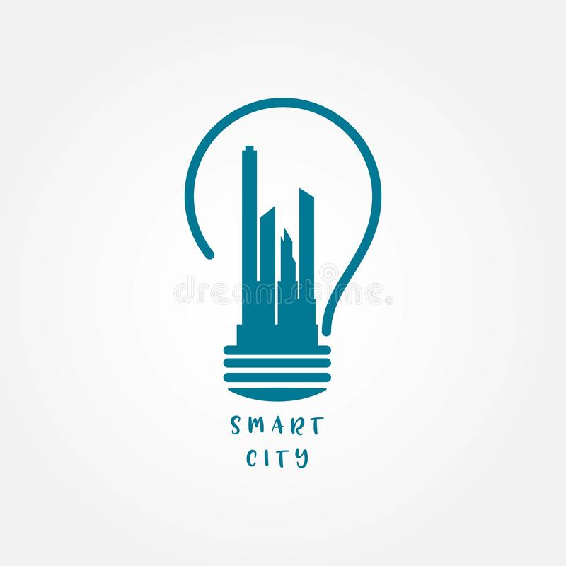 Smart City Vector Template Design Illustration. City, smart, vector, internet, things, urban, technology, lifestyle, people, environment, transportation, skyline stock illustration