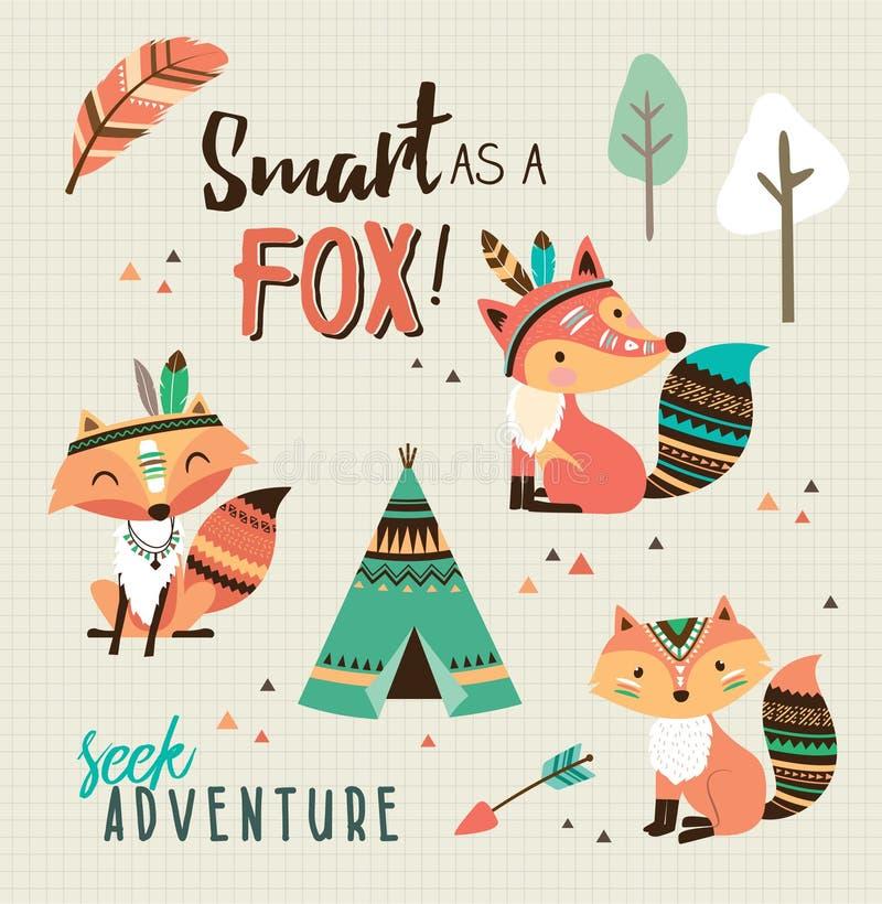 Smart como uma raposa! ilustração royalty free