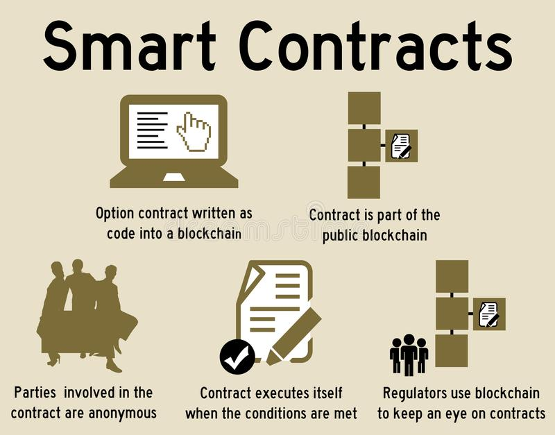 Smart contracts stock illustration