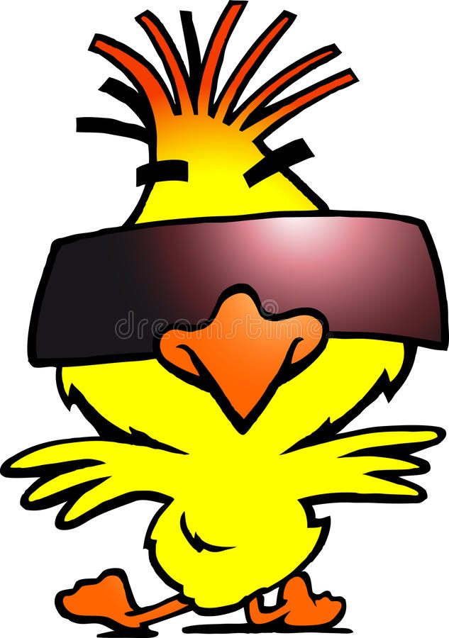 Download Smart Dancer Chicken With Cool Sunglass Stock Vector - Image: 27036847