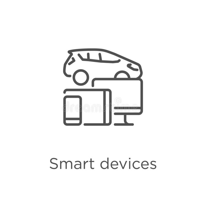 Smart devices icon vector from g collection. Thin line smart devices outline icon vector illustration. Outline, thin line smart. Smart devices icon. Element of g royalty free illustration