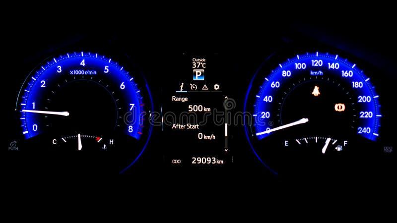 Display Smart Digital Car Dashboard Speedometer royalty free stock images
