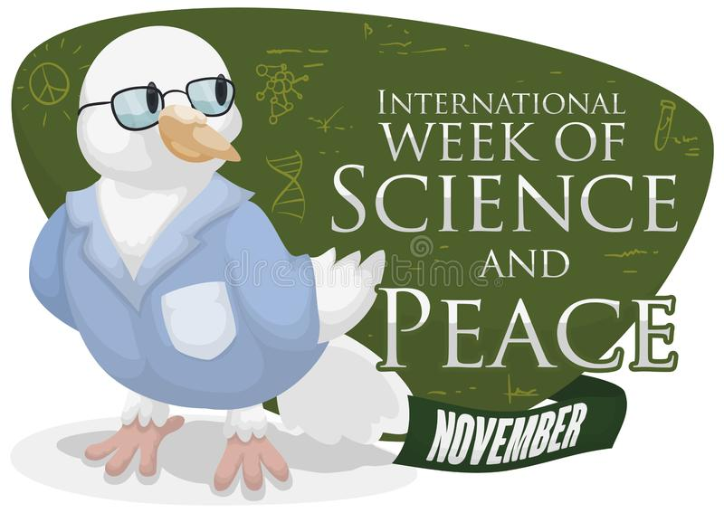 Smart Dove Developing Scientific Studies for Science and Peace Week, Vector Illustration vector illustration