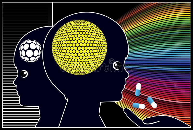 Smart droger för ungar stock illustrationer