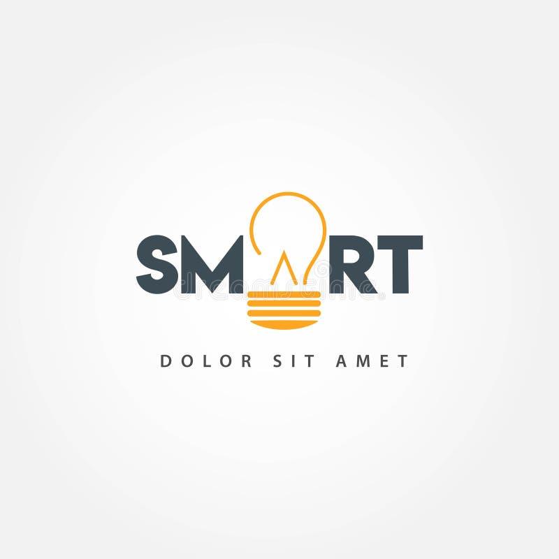 Smart Education Vector Template Design Illustration. Smart, education, technology, concept, learning, mind, logo, vector, brain, kids, school, creative stock illustration