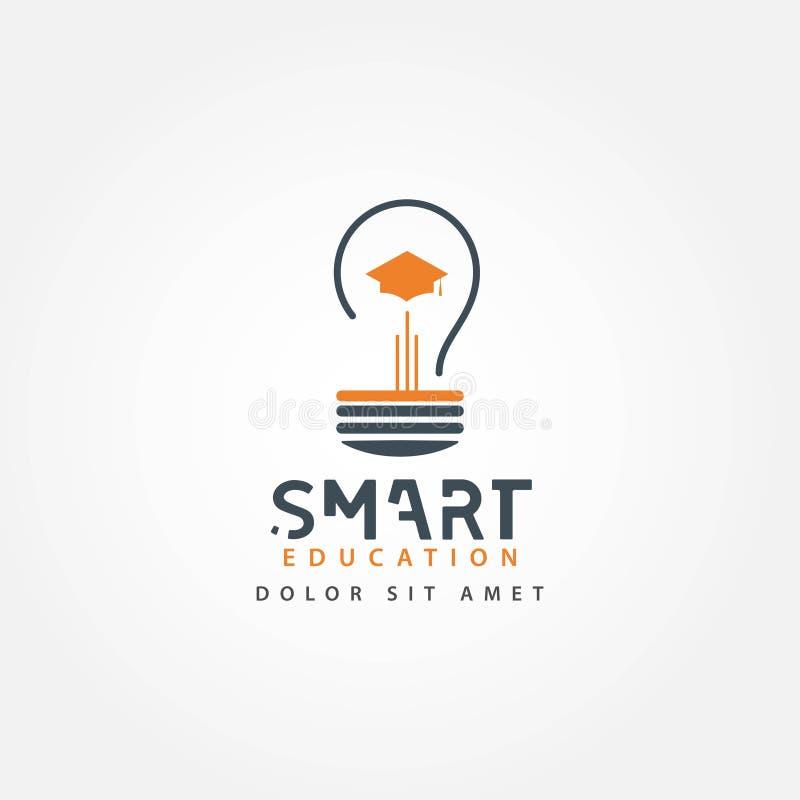 Smart Education Vector Template Design Illustration. Smart, education, technology, concept, learning, mind, logo, vector, brain, kids, school, creative vector illustration