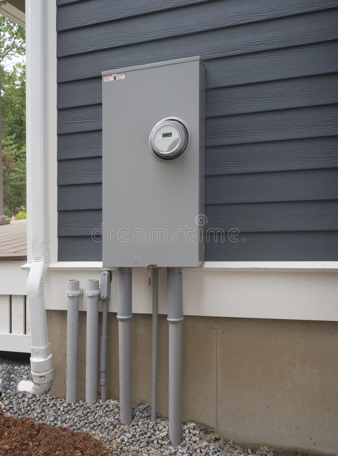 Download Smart Electric Utility Meter And Panel Stock Image - Image: 41897271