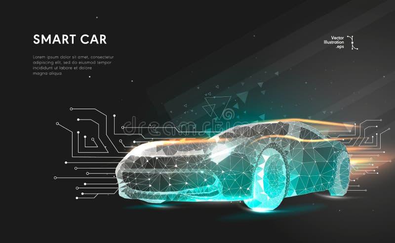 Smart eller intelligent bil royaltyfria foton