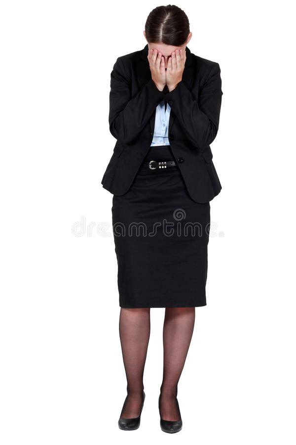 Smart employee crying royalty free stock images