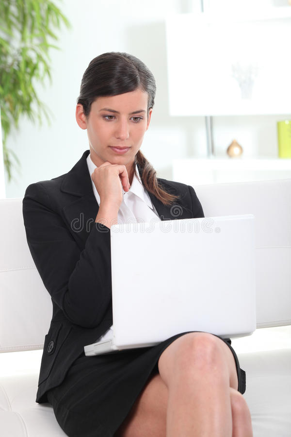 Download Smart Employee With Laptop Computer Stock Image - Image: 22884699
