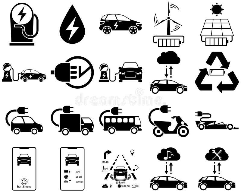 Smart en elektrisch voertuig in monotoon stock fotografie