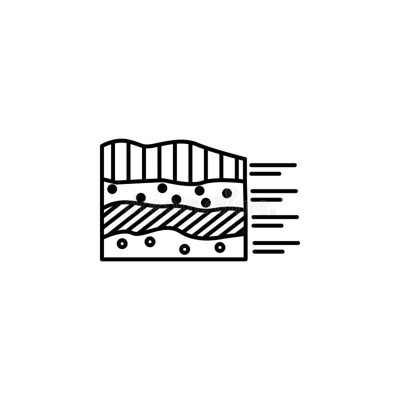 Smart farm, ground icon. Element of smart farm icon. Thin line icon for website design and development, app development. Premium. Icon on white background vector illustration