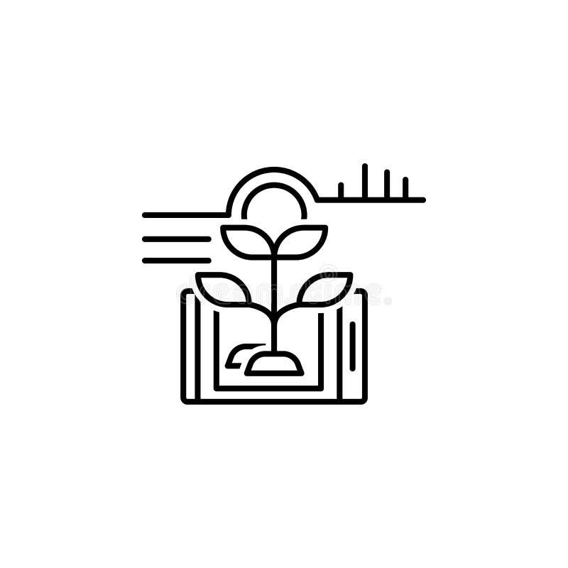 Smart farm, plant icon. Element of smart farm thin line icon. On white background royalty free illustration