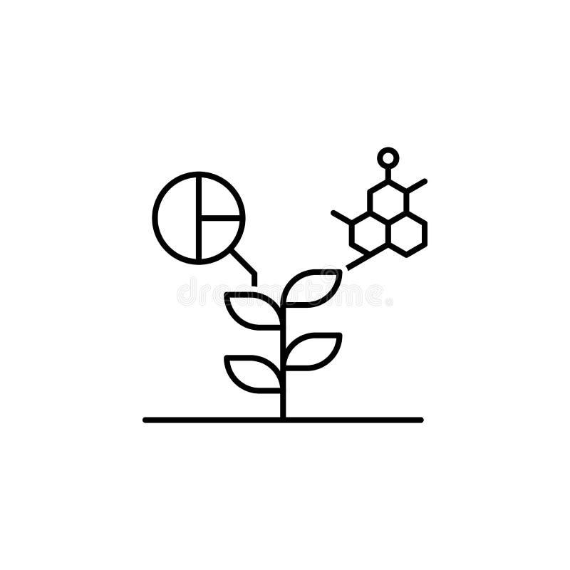 Smart farm, plant icon. Element of smart farm thin line icon. On white background stock illustration
