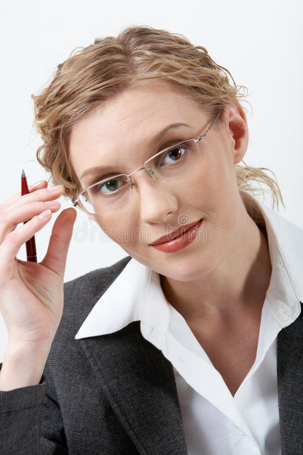 Download Smart female stock photo. Image of closeup, face, business - 15302300