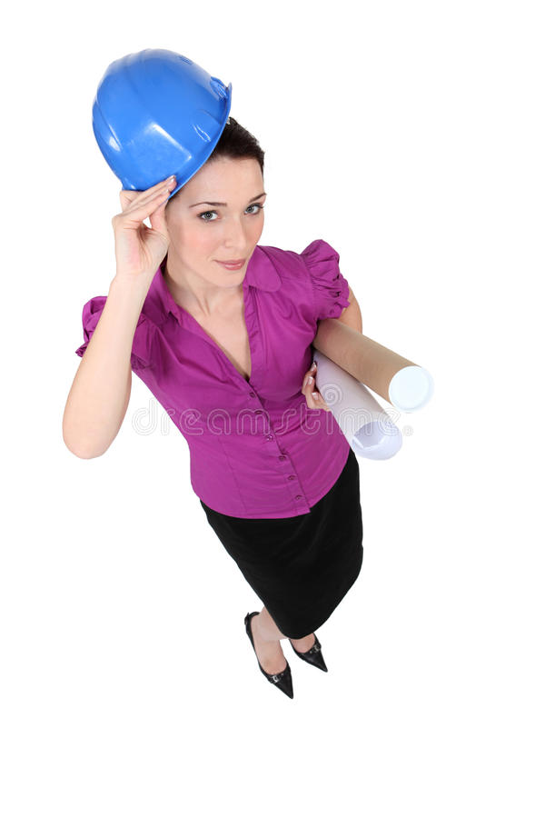 Download Smart female architect stock photo. Image of smart, active - 28190744