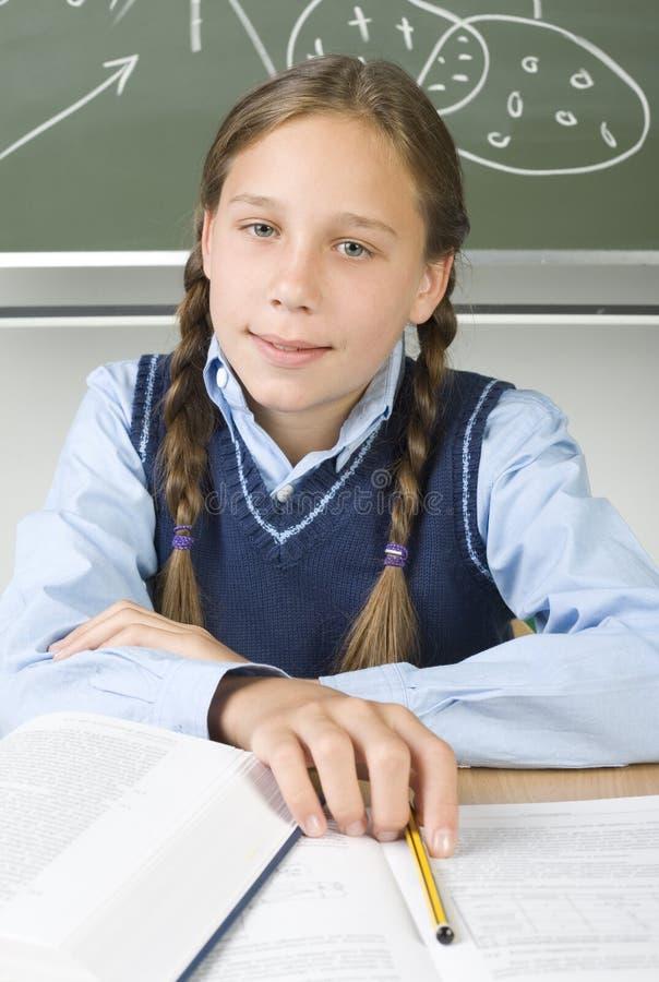 smart flicka arkivbild
