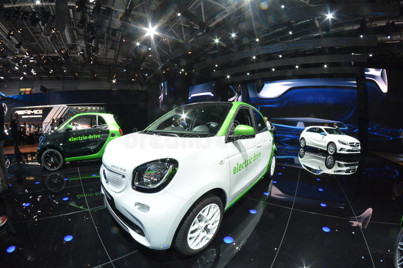 Smart ForFour Electric Drive. New Smart ForFour W453 at Paris Motorshow royalty free stock photos