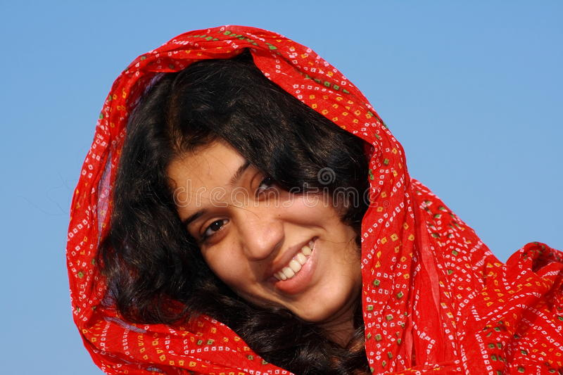 Download Smart Girl With Her Red Scarf Royalty Free Stock Photo - Image: 11324265