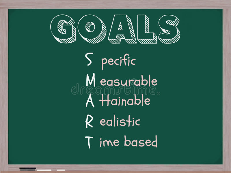 Download Smart Goals Blackboard stock illustration. Image of board - 22486369